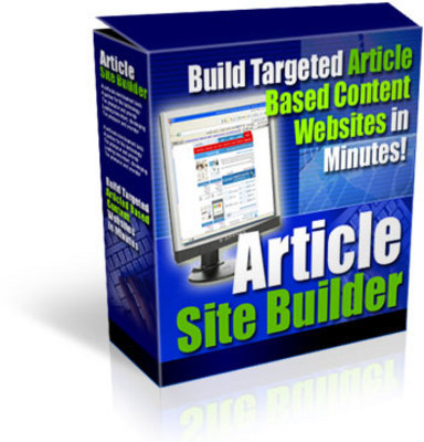 Product picture Article site Builder with Master Resale Rights